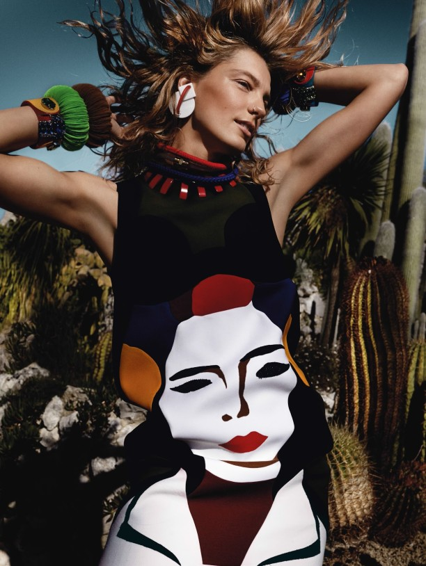 daria werbowy by mario testino for uk vogue march 2014