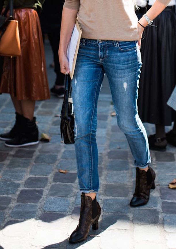 cropped jeans and boots